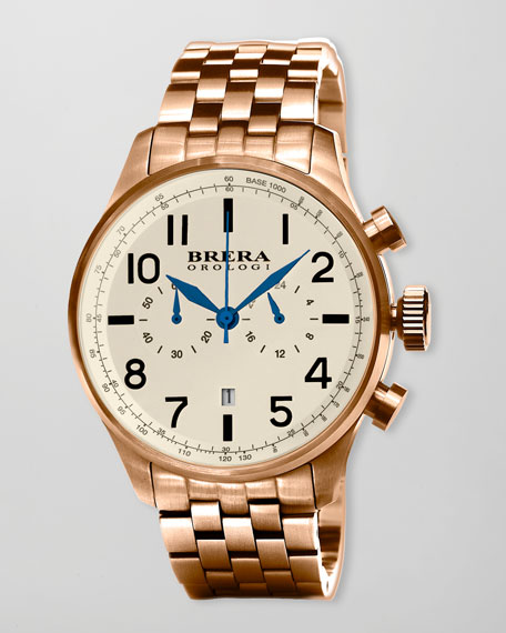Classico Chronograph Watch, Rose Golden