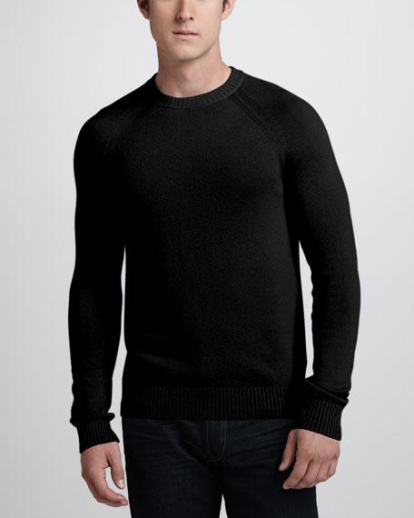 Cashmere Raglan Sweater, Black