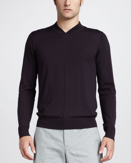High-Neck Wool Sweater