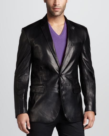 Ralph Lauren Black Label Anthony Leather Sport Coat ...
