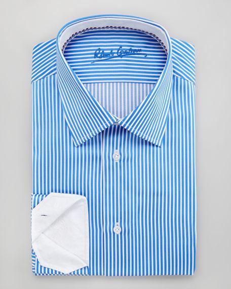 Alfie Striped Dress Shirt, Sky