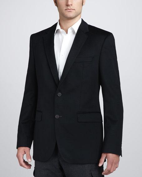 Cashmere-Silk Blazer, Black