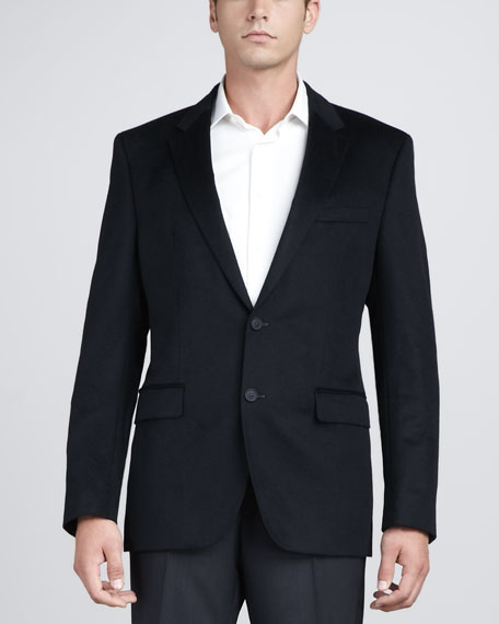 Cashmere-Silk Blazer, Navy