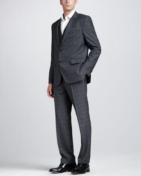 hugo three plaid suit
