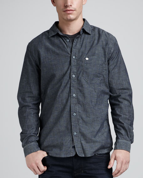 Check-Print Chambray Shirt