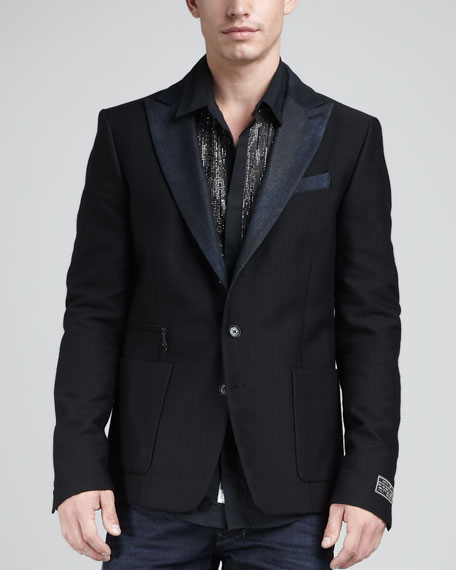 Juvenal Denim-Lapel Blazer