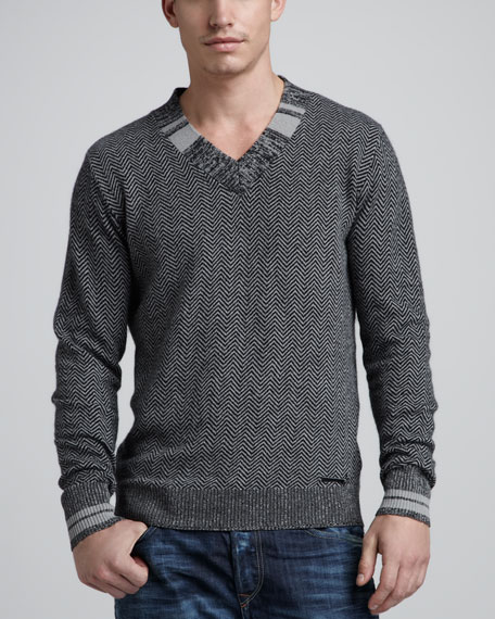 Fillide Herringbone Sweater