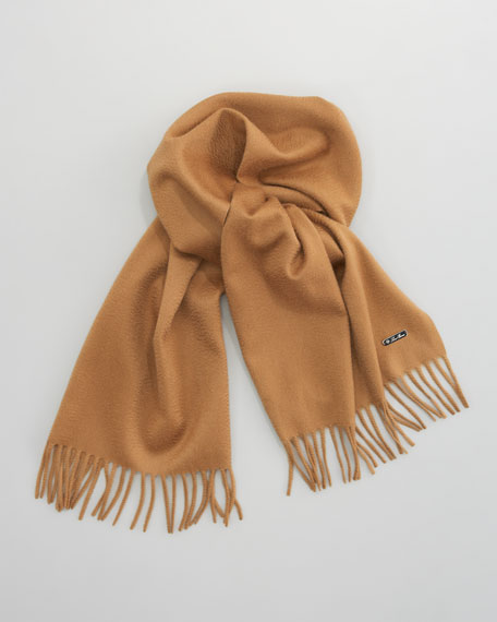 Piccola Solid Cashmere Scarf, Camel