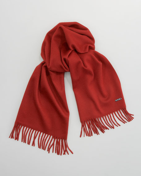 Piccola Solid Cashmere Scarf,  Red