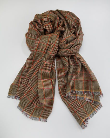 Glen Plaid Cashmere Scarf