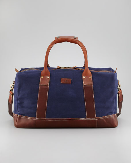 Hermitage Canvas/Leather Duffel Bag