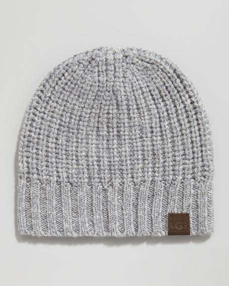 Knit Skull Cap, Gray Flannel