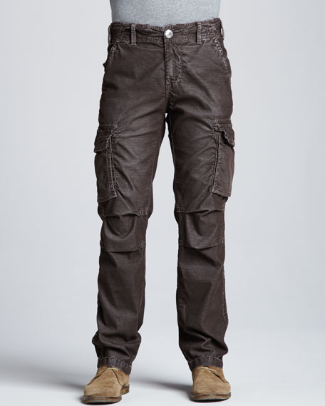 Anthony Corduroy Cargo Pants, Brown