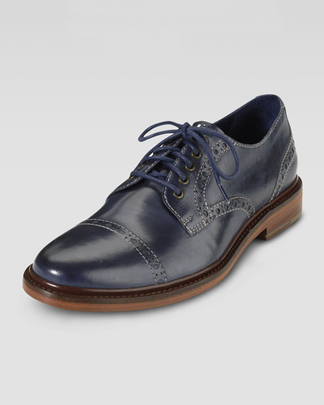 Air Harrison Cap-Toe Shoe, Blue