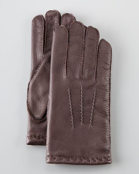 Adam Gored Deerskin Glove, Brown