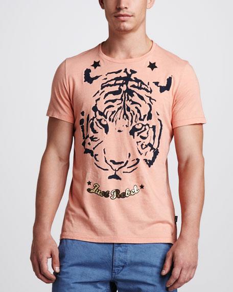 Tiger-Print Jersey Tee
