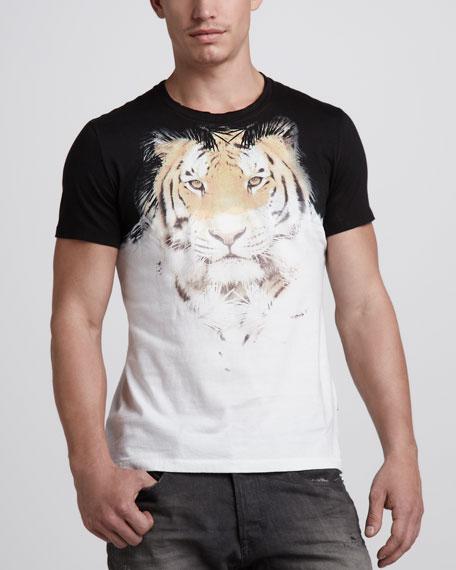 Tiger-Print Tee