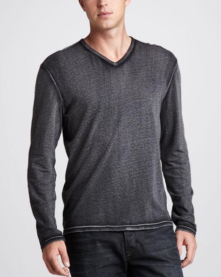 Reverse-Print Sweater, Black