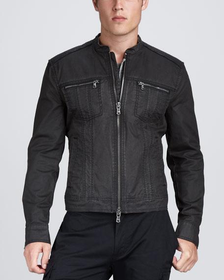 Denim Motorcycle Jacket