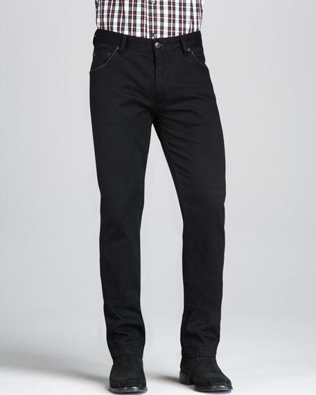 Monochrome Slim Black Jeans