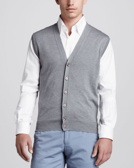 Wool/Cashmere Sweater Vest
