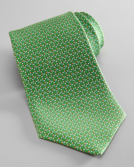 Golf Ball & Flag Tie
