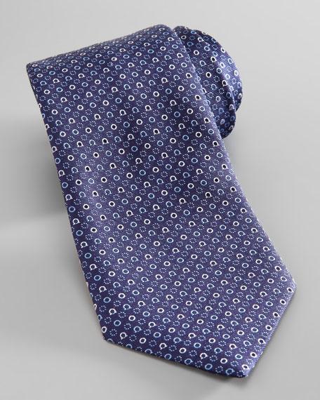 Gancini & Circle Tie, Navy