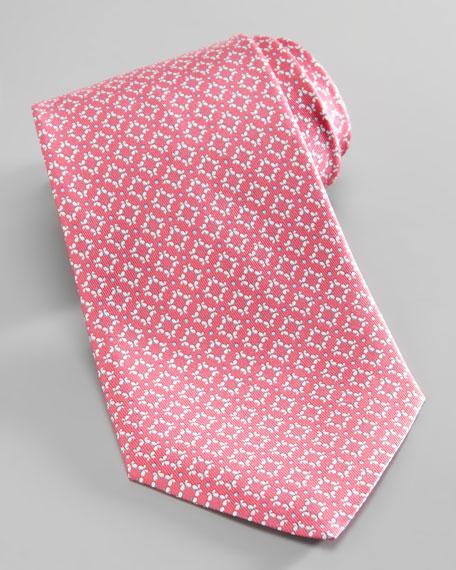 Butterfly-Diamond Silk Tie