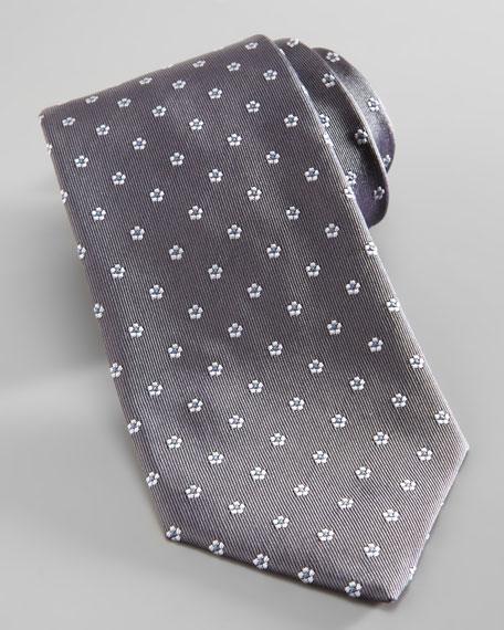 Mini-Floral Silk Tie