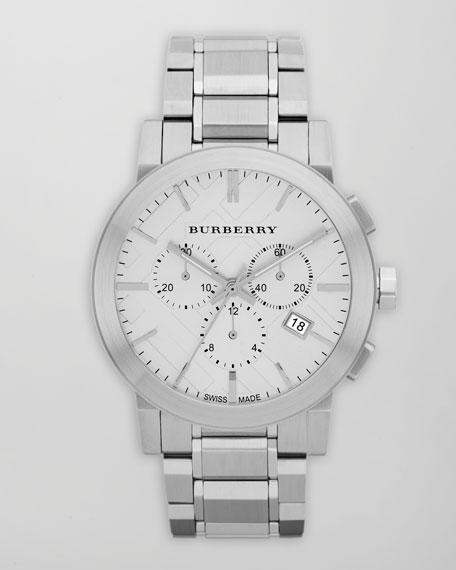Classic Chronograph Watch, White