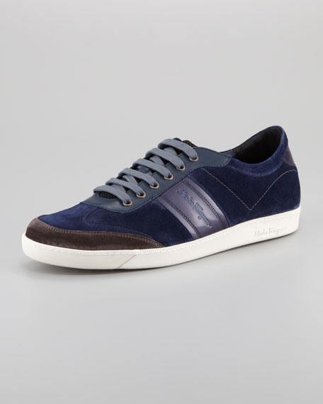 Marling Low-Top Suede Sneaker, Blue