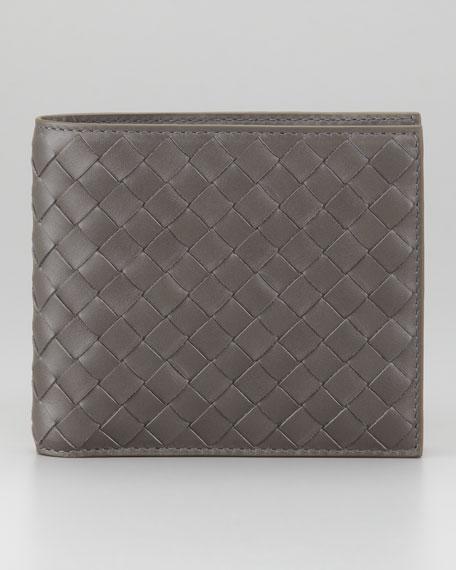 Basic Woven Wallet, Gray