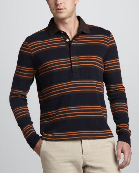 Long-Sleeve Rugby Polo