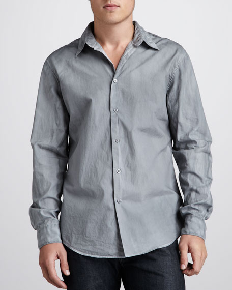 Slim-Fit Sport Shirt, Flagstone