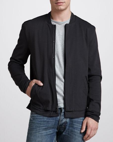 Mock-Collar Zip Jacket