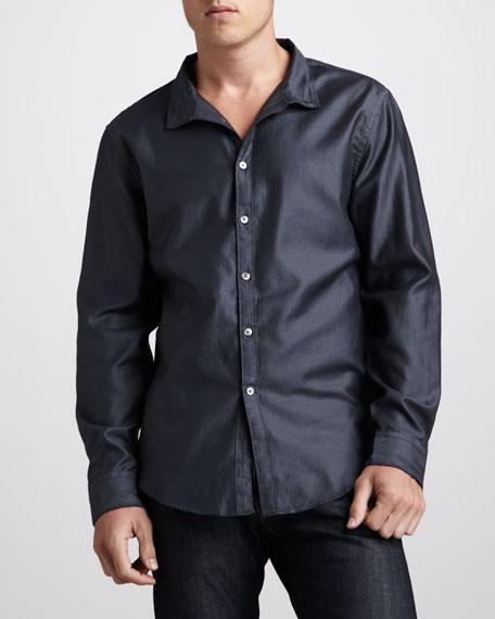 Slim-Fit Sport Shirt, Gunmetal