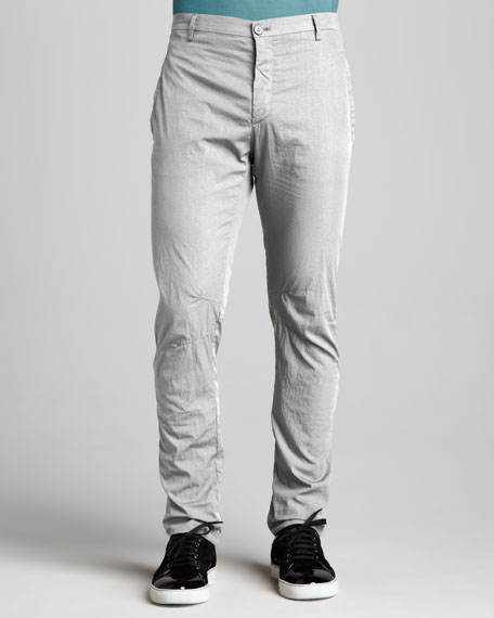 Cotton-Blend Motorcycle Pants