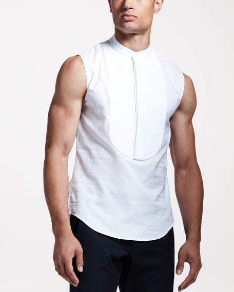 Sleeveless Tuxedo Shirt
