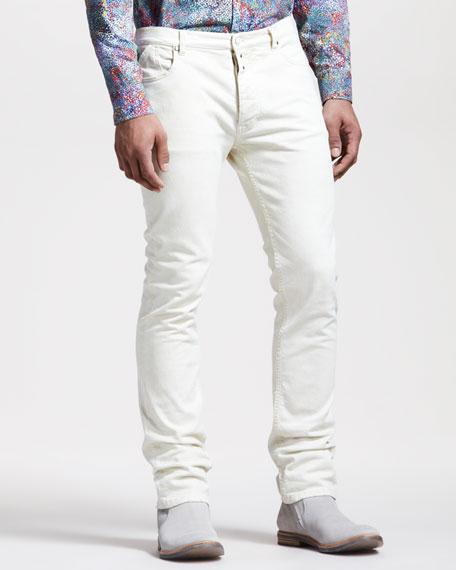 Slim White Jeans