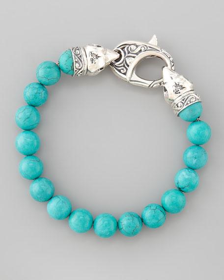 Turquoise-Beaded Bracelet