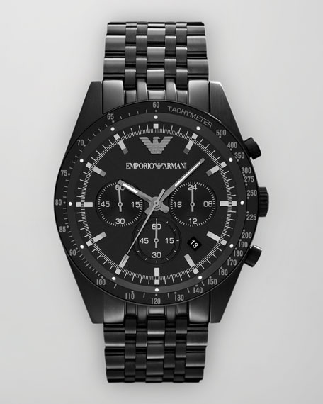Sportivo Tachymeter Watch, Black