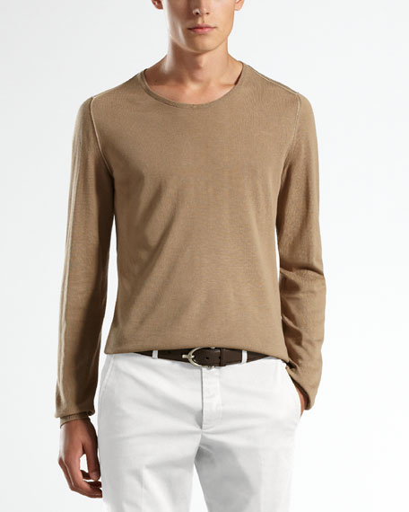 Extrafine Cotton Crewneck Sweater