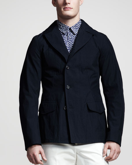 Asymmetric Three-Button Jacket