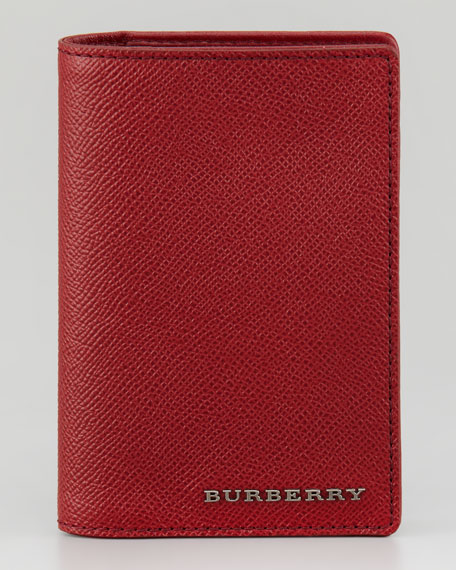 Leather Passport Cover, Cherry