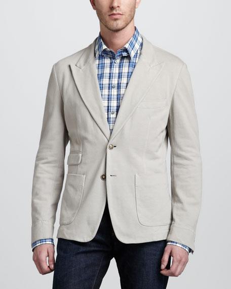 Peak-Lapel Jersey Jacket