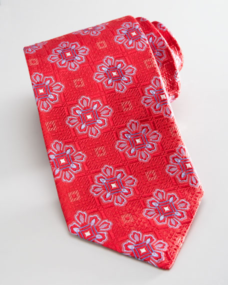 Medallion-Check Tie