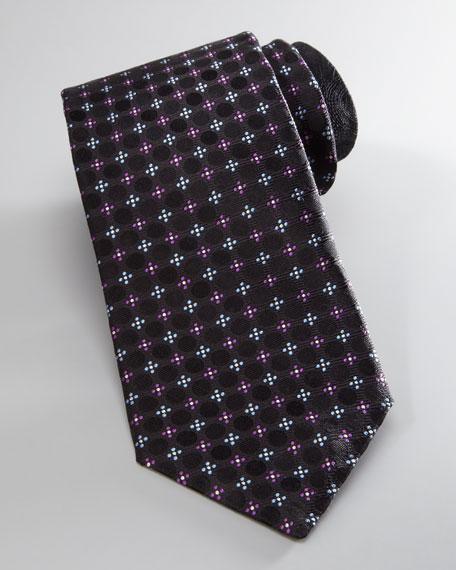 Floral/Dot Silk Tie