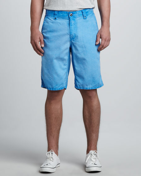 Cowboy Canvas Shorts, Blue Jay Ice Wash