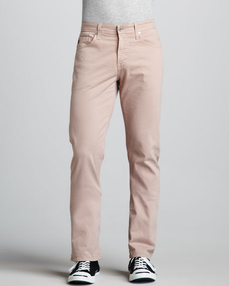 Protege Straight-Leg Misty Rose Jeans