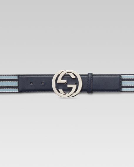 Ribbon Belt with Interlocking G Buckle